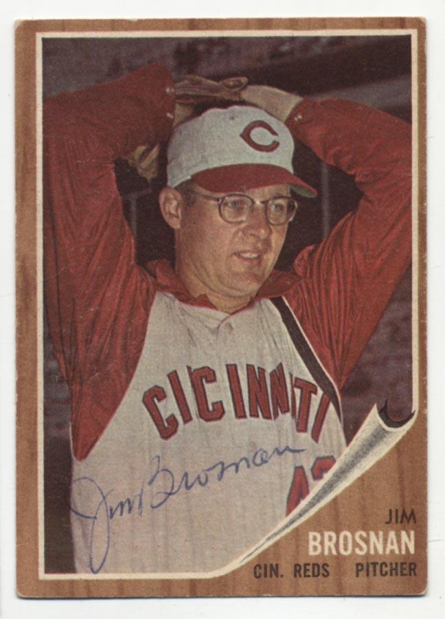 Lot #25 1962 Topps # 2 Jim Brosnan Cond: 8