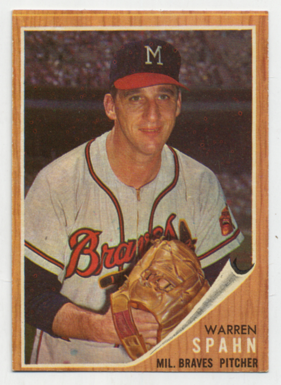 Lot #221 1962 Topps # 100 Spahn Cond: Ex-Mt