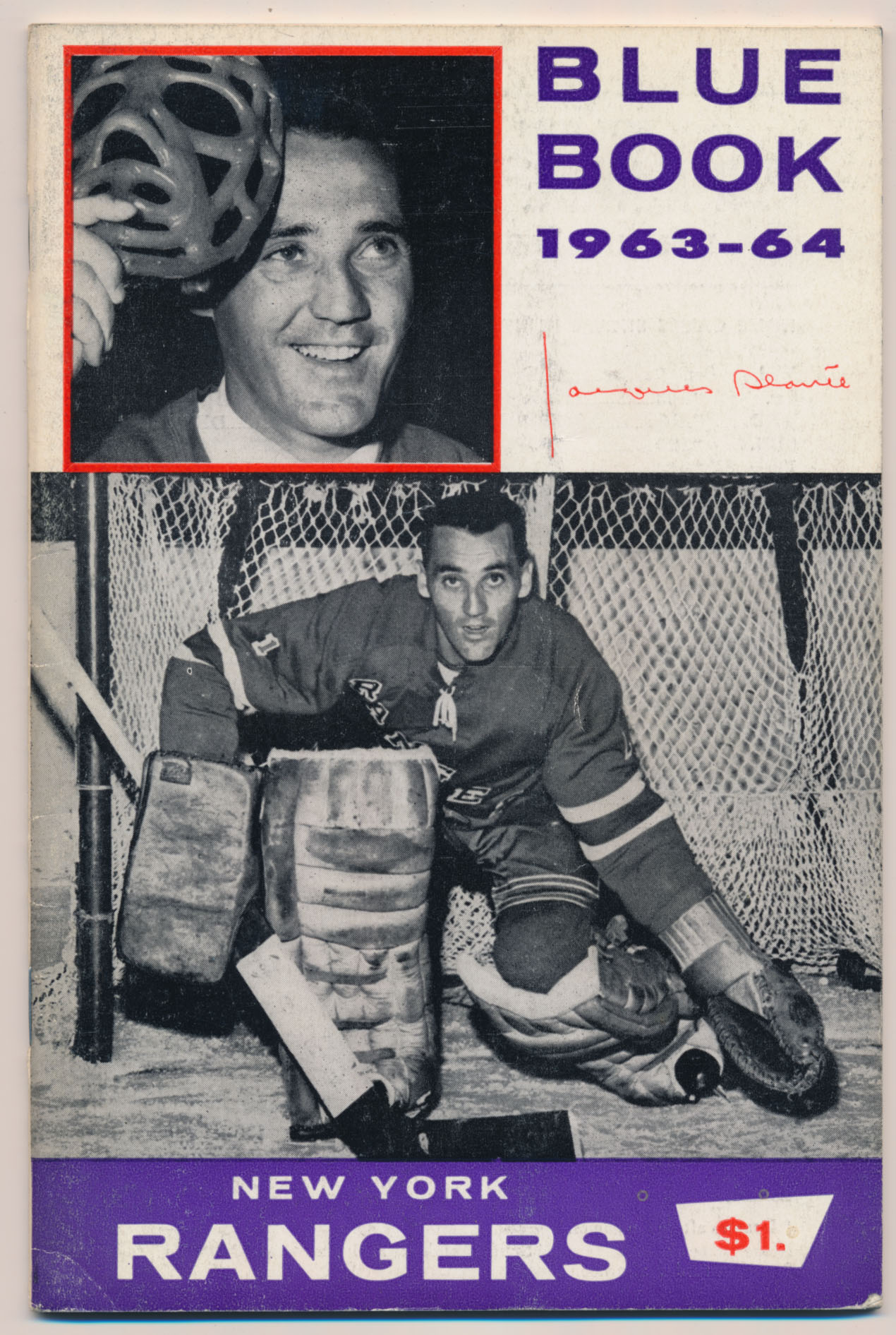 1963 Program  NY Rangers Blue Book Ex