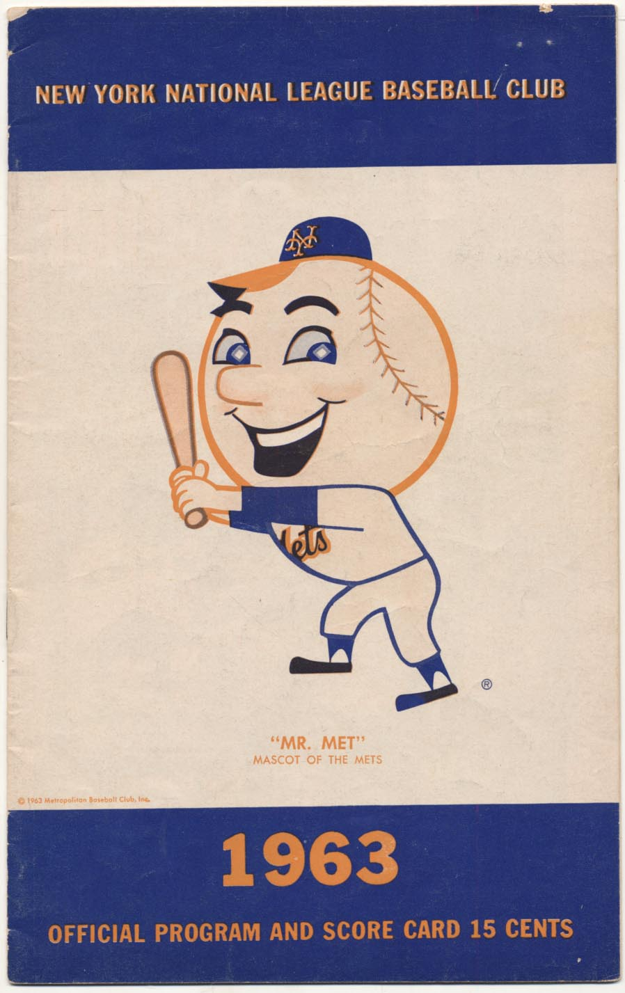 1963 Scorecard  Mets Opening Day Ex