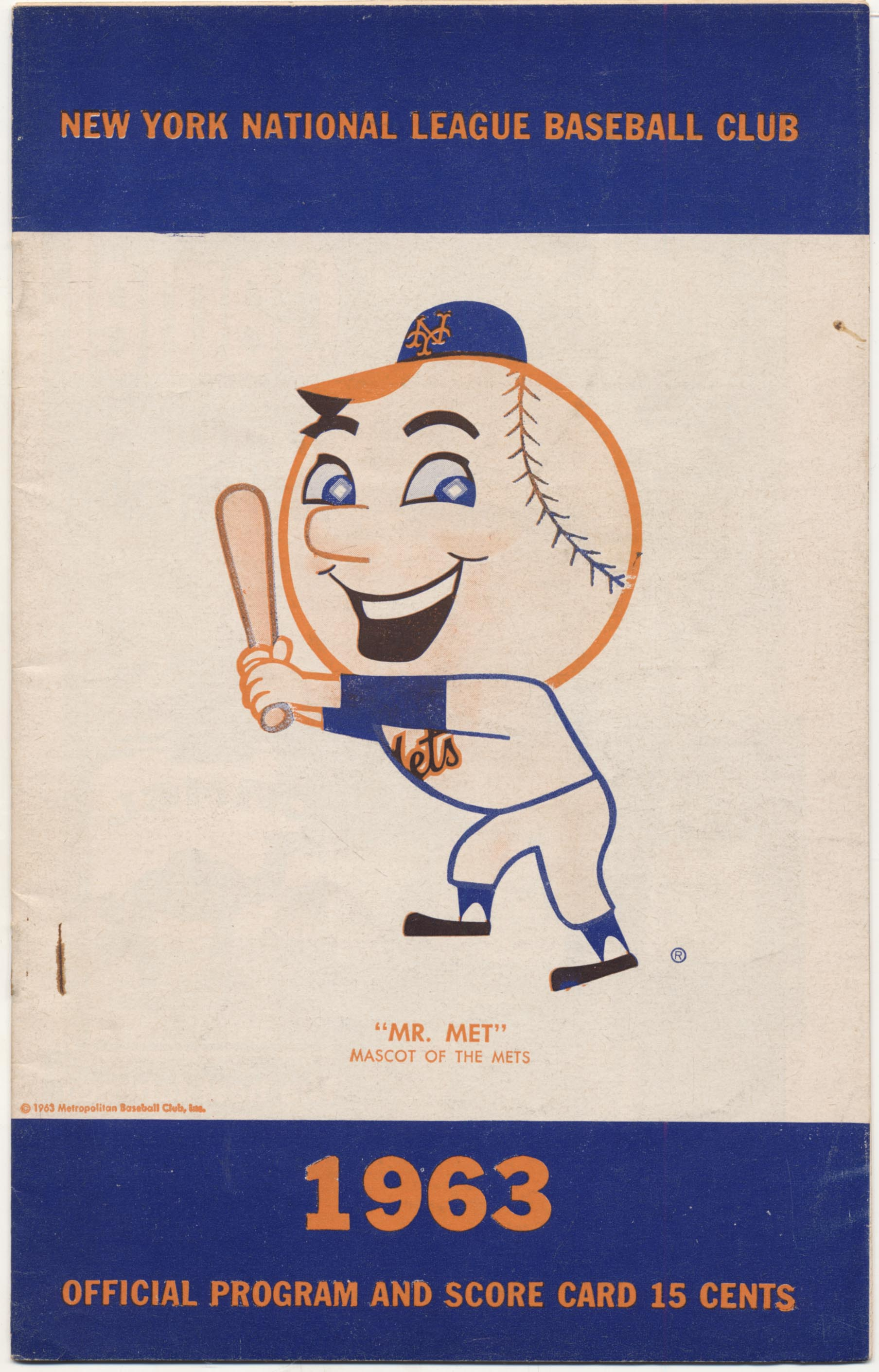 Lot #1218 1963 Scorecard  Mets (scored vs Cardinals, 8/6-8 series) Cond: Ex+