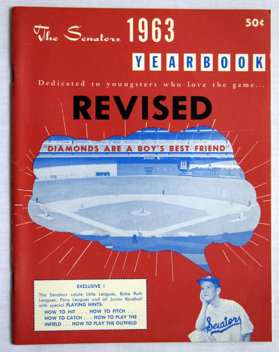 Lot #1435 1963 Yearbook  Washington Senators Cond: Ex-Mt+