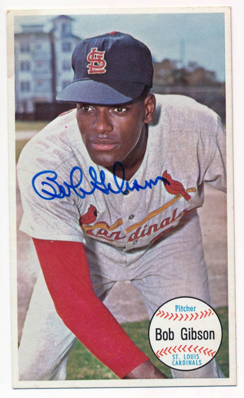 Lot #66 1964 Topps Giant # 41 Bob Gibson Cond: 9.5