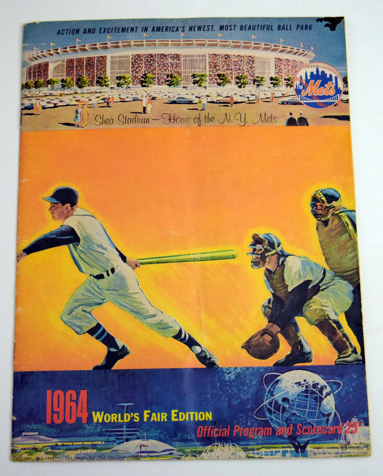 1964 Scorecard  Mets (unscored vs Giants) VG