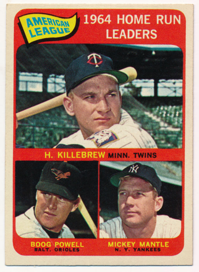 Lot #994 1965 Topps # 3 Kill/Mantle Cond: Ex-Mt