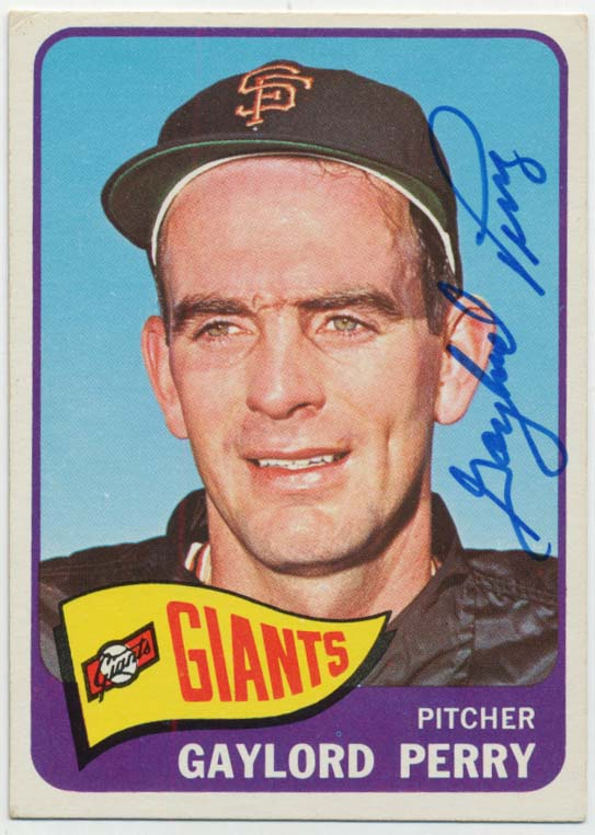 Lot #100 1965 Topps # 193 Perry Cond: 9.5