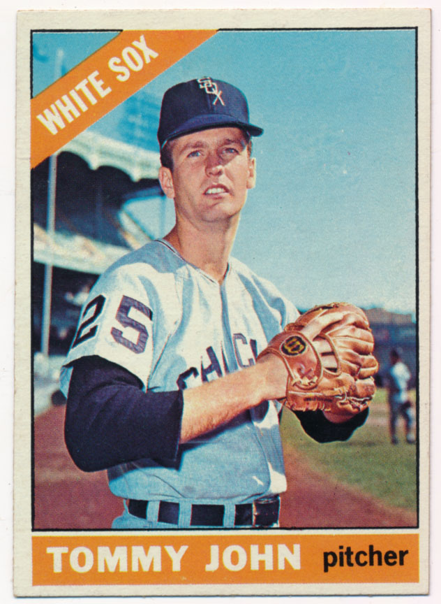 Lot #1155 1966 Topps # 486 Tommy John Cond: NM