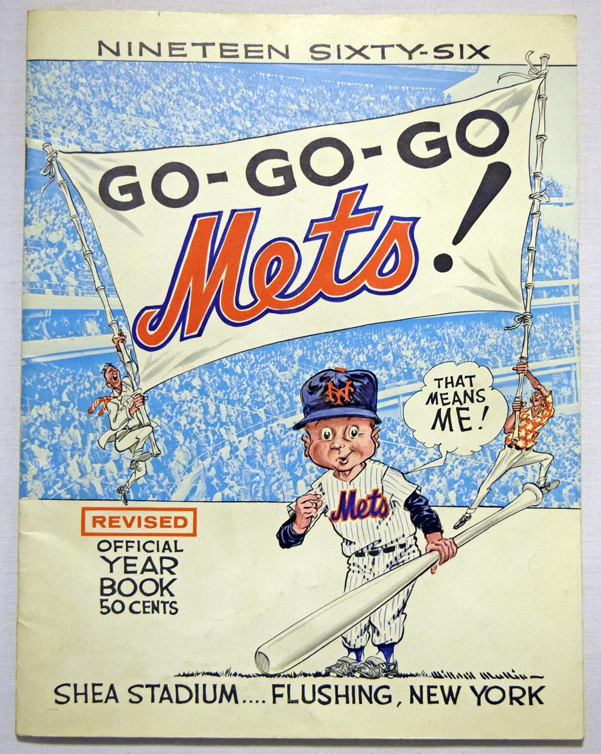 Lot #1198 1966 Yearbook  New York Mets (rev) Cond: VG-Ex/Ex