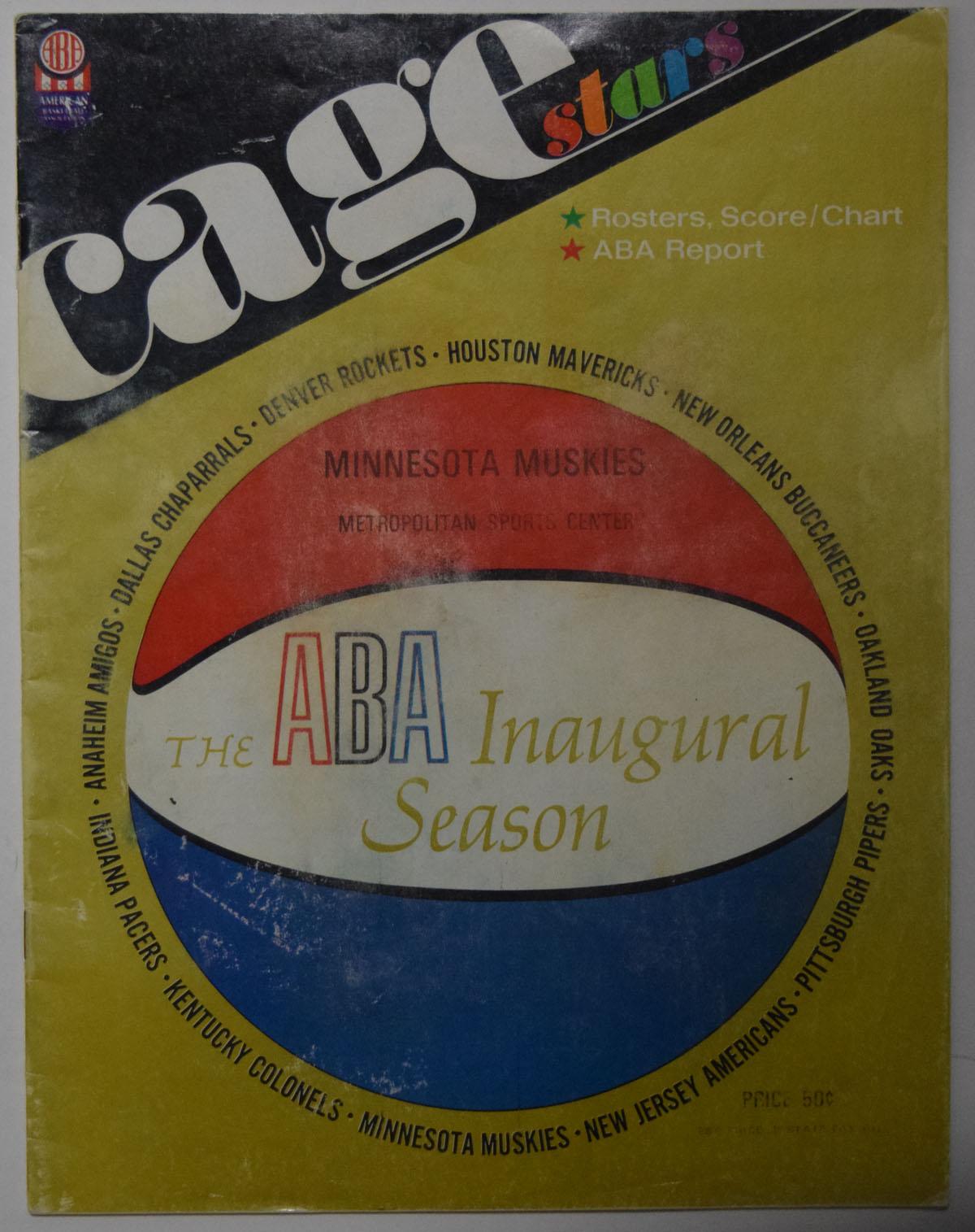 Lot #870 1967 Program  Minnesota Muskies 1st Year ABA Program Cond: VG-Ex