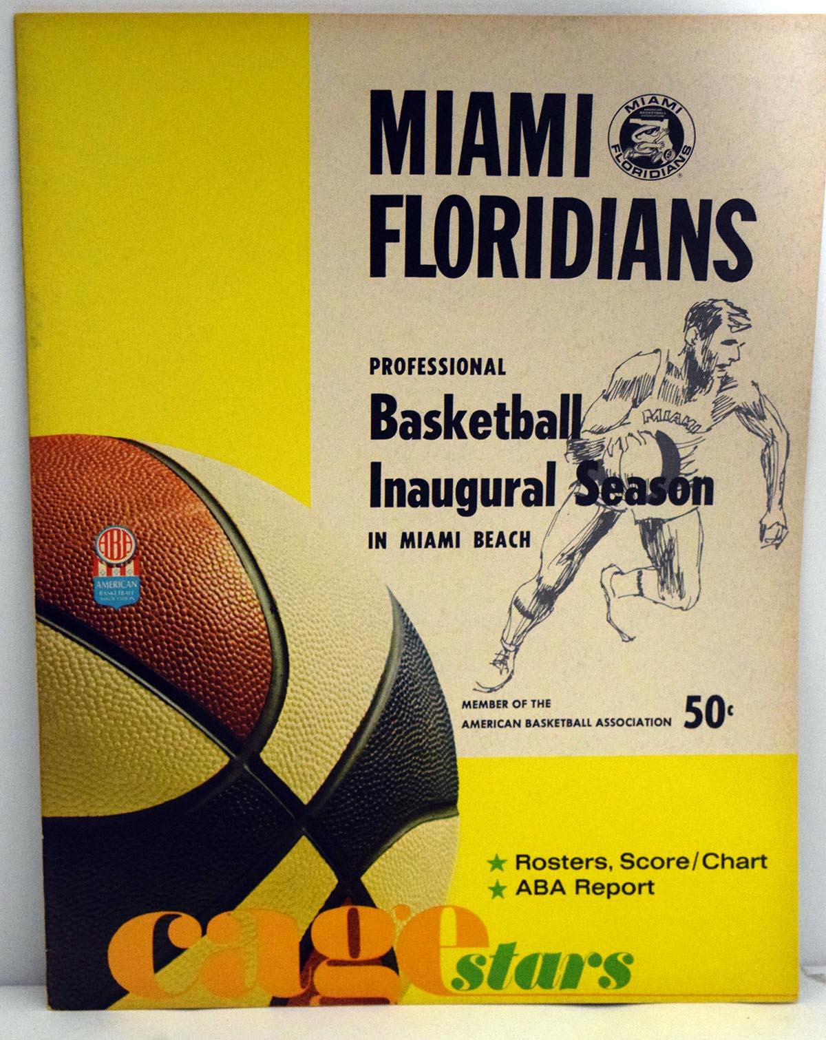 Lot #869 1967 Program  Miami Floridians/Oakland w/Rick Barry Cond: Ex-Mt/NM