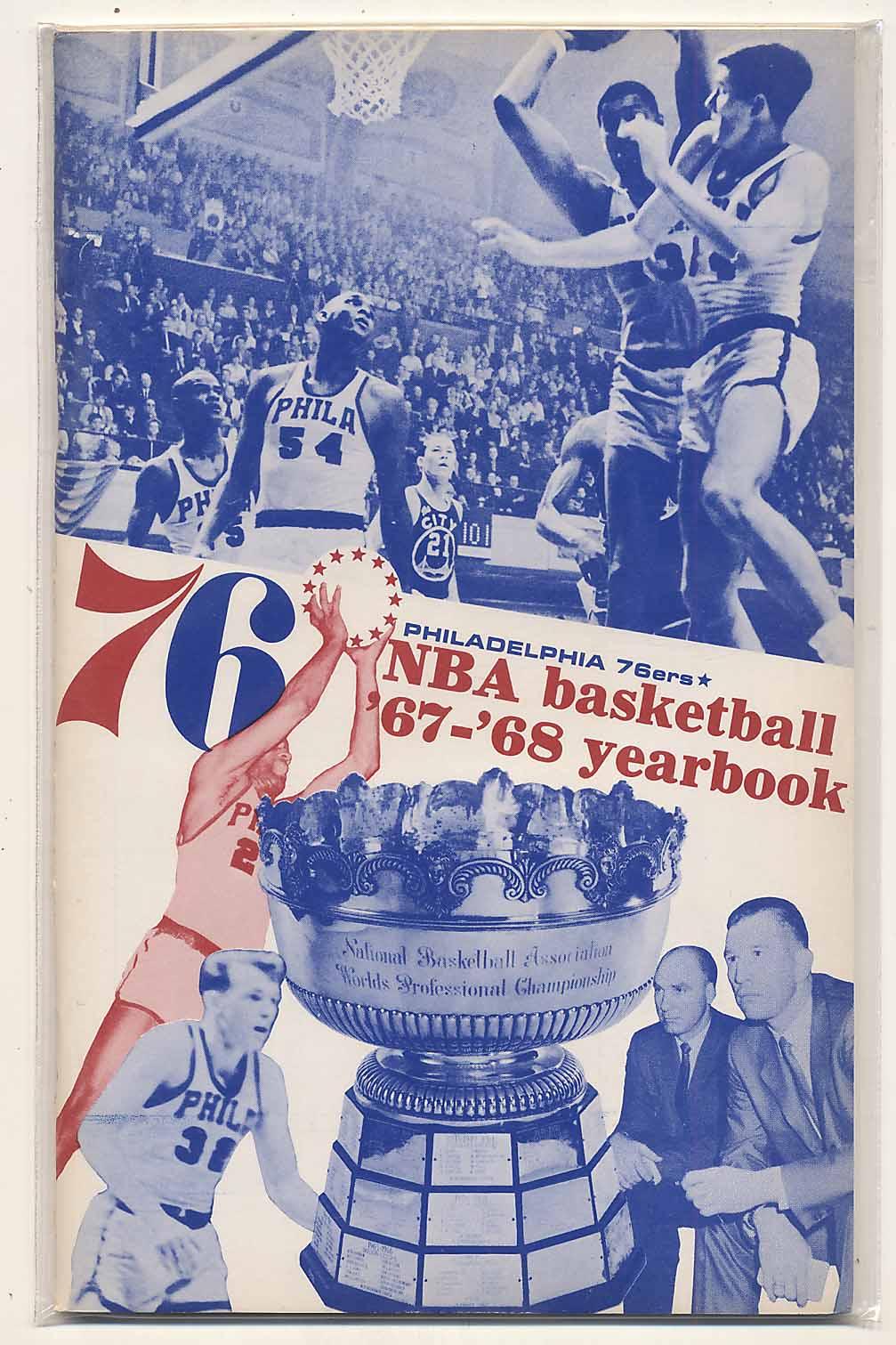 Lot #871 1967 Yearbook  Philadelphia 76ers Cond: NM