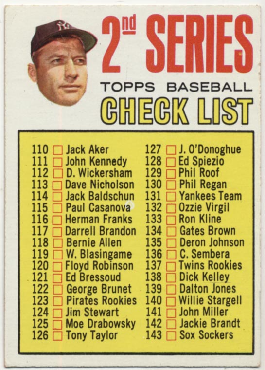 1967 Topps 103 Mantle CL Ex+