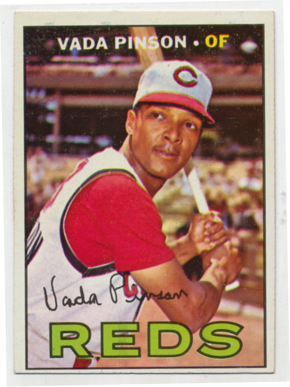 Lot #892 1967 Topps # 550 Pinson Cond: Ex-Mt
