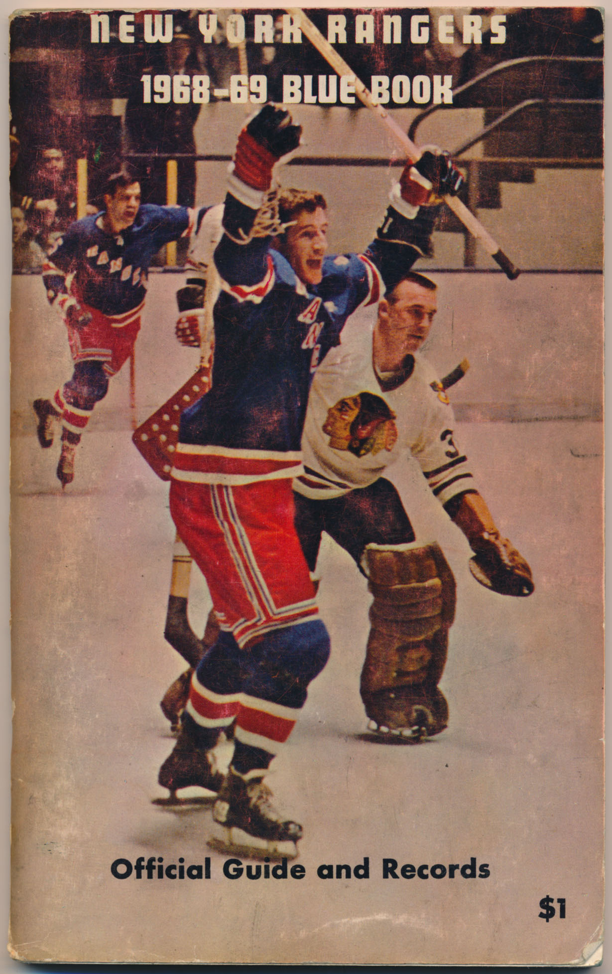 1968 Program  NY Rangers Blue Book VG-Ex