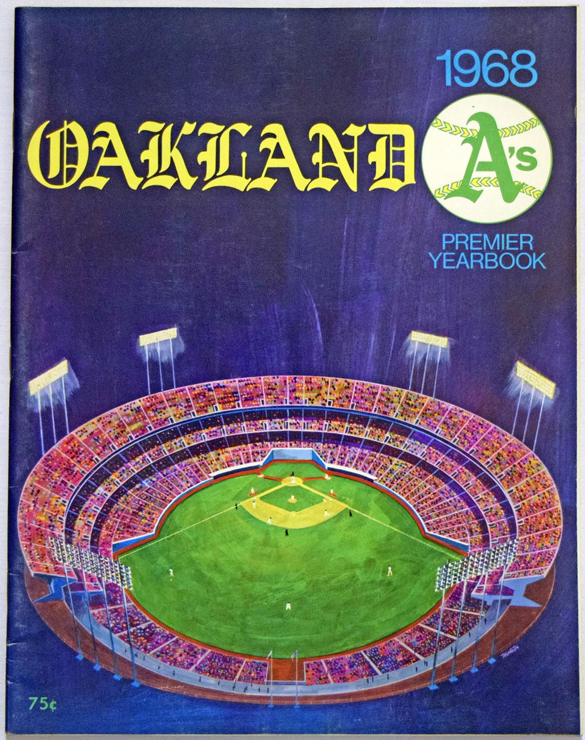 Lot #1759 1968 Yearbook  Oakland A's Cond: NM