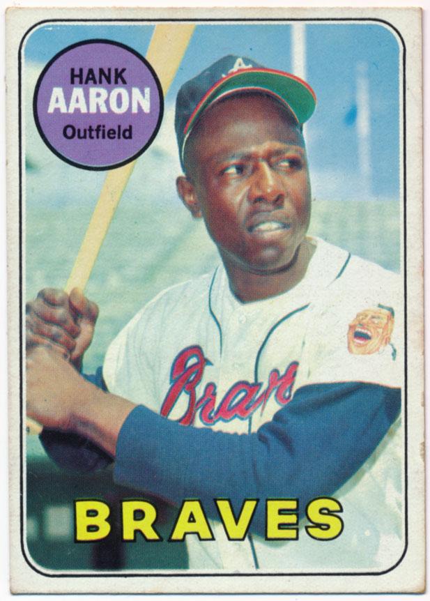 1969 Topps 100 Aaron Ex