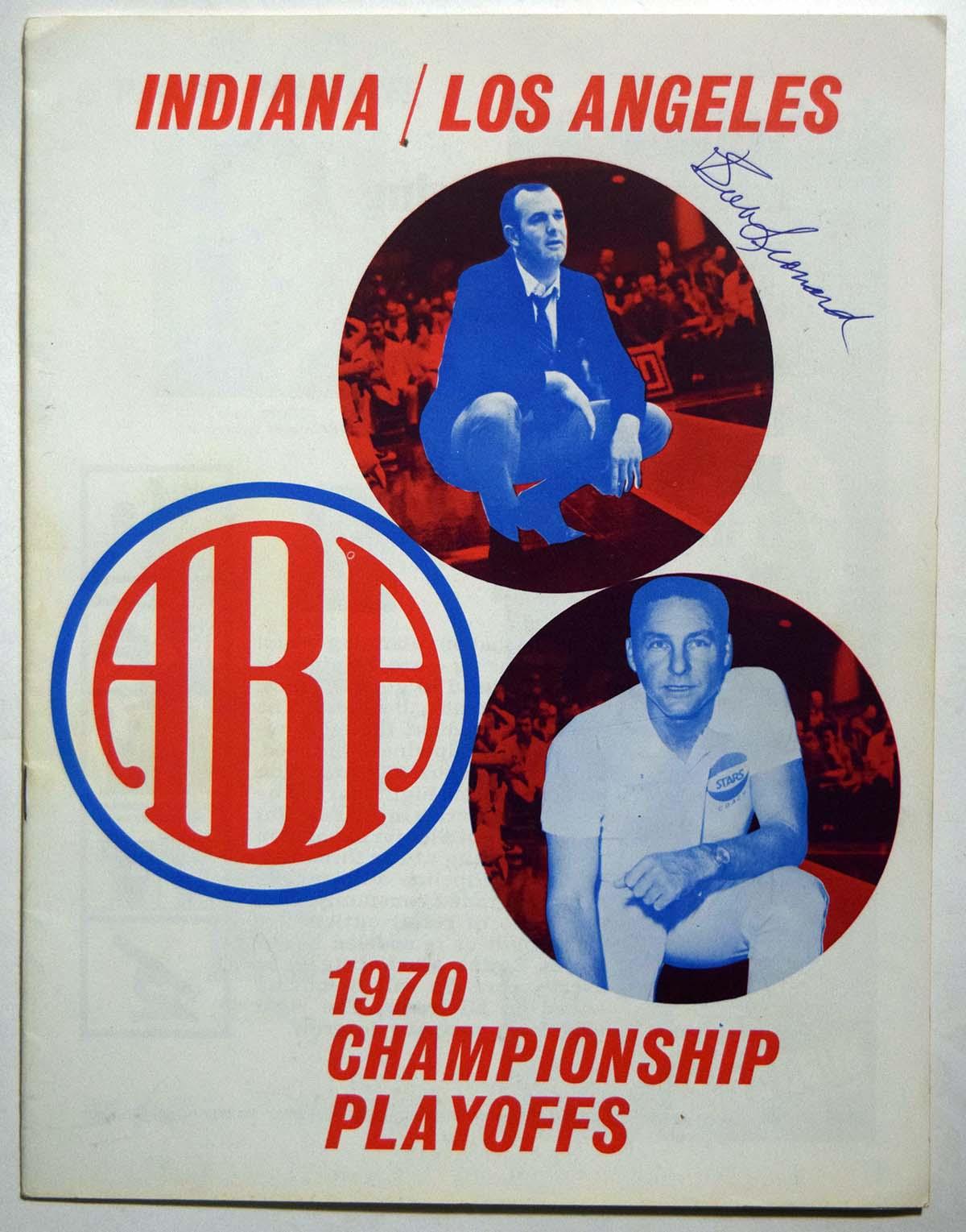 Lot #986 1969 Program  Indiana - Los Angeles ABA Playoffs Cond: Ex-Mt