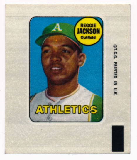 Lot #921 1969 Topps Decal  Jackson, Reggie Cond: NM