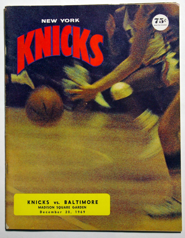 Lot #873 1969 Program  Knicks/Baltimore Cond: Ex