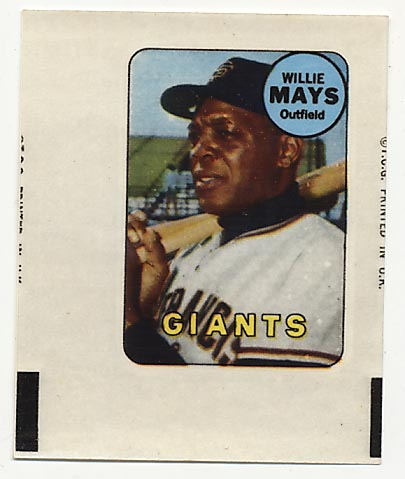 Lot #598 1969 Topps Decal  Mays Cond: Ex-Mt