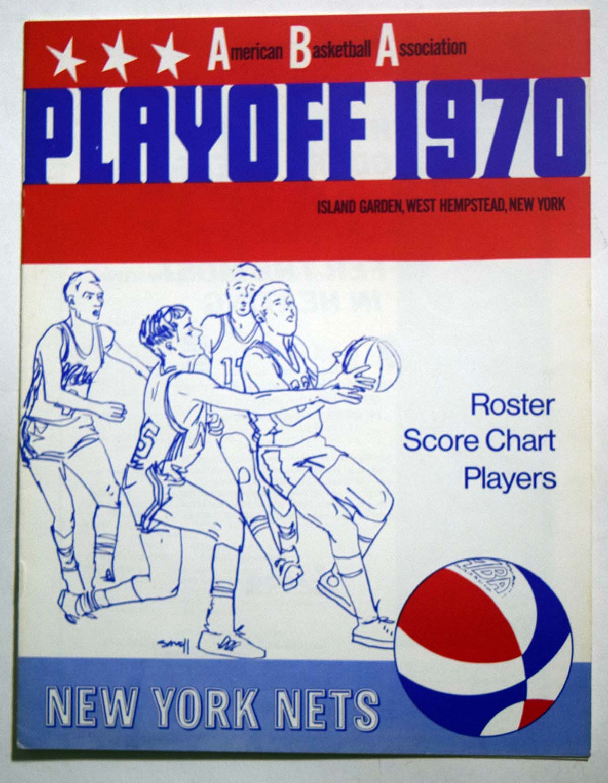 Lot #981 1970 Program  NY Nets Playoffs vs Kentucky Cond: NM