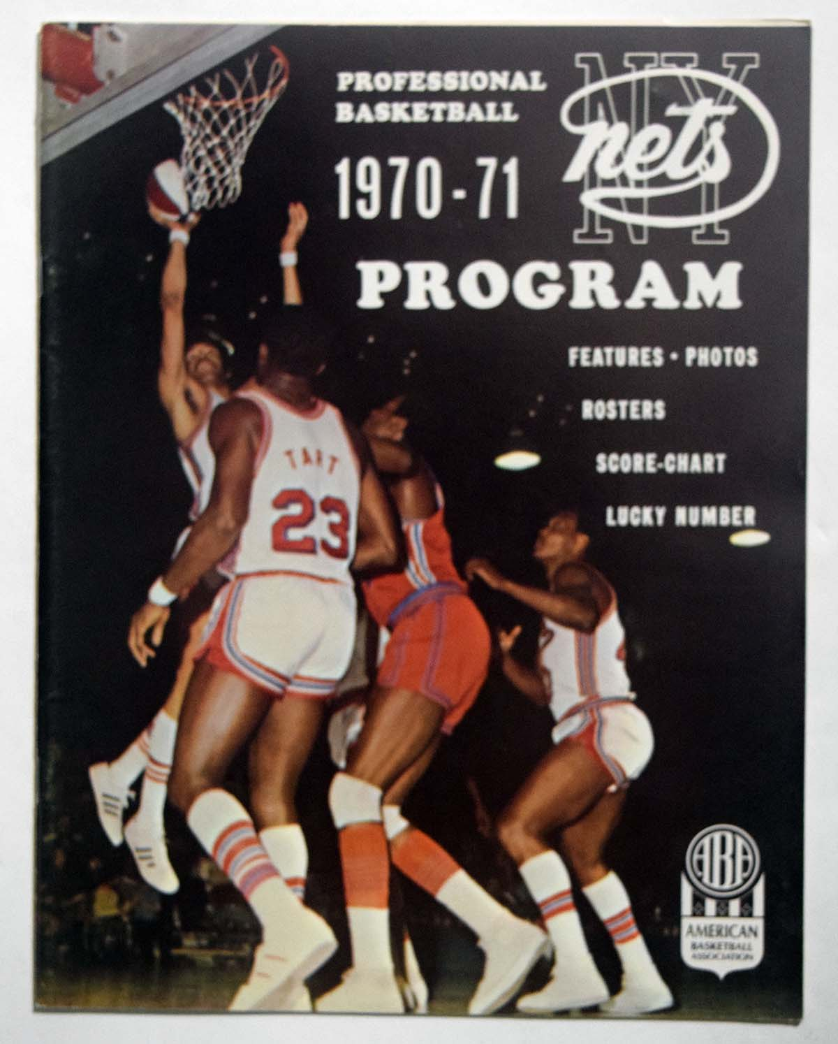 Lot #878 1970 Program  NY Nets/Pacers Cond: Ex-Mt/NM