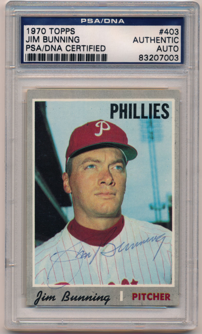 Lot #58 1970 Topps # 403 Bunning Cond: 8