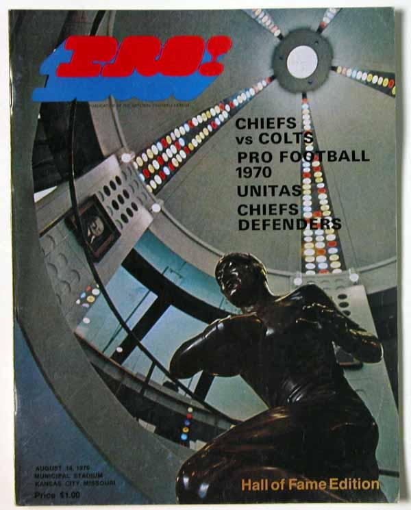1970 Program  Aug 14, 1970 (Chiefs/Colts) Ex-Mt