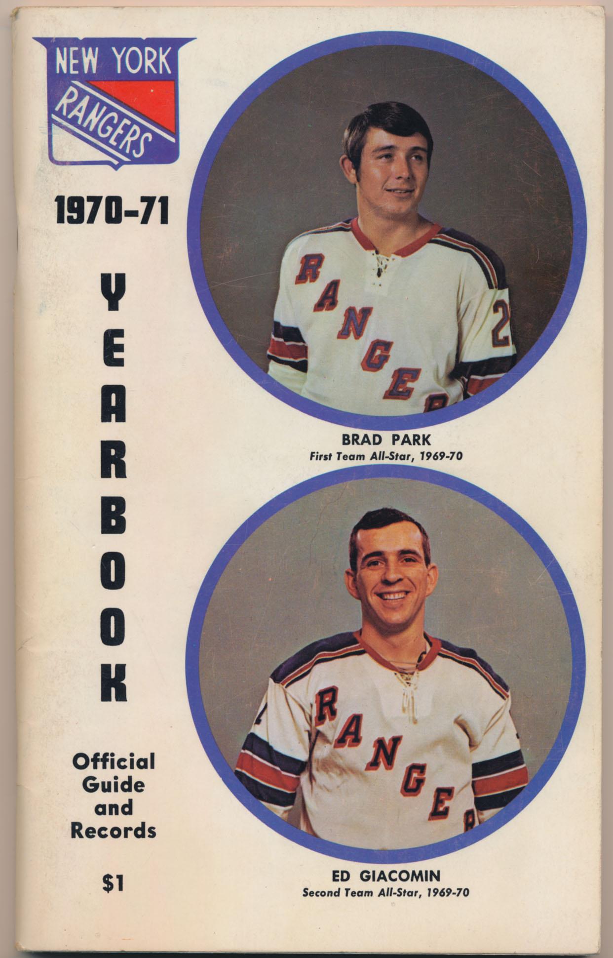 1970 Program  NY Rangers Blue Book Ex-Mt+