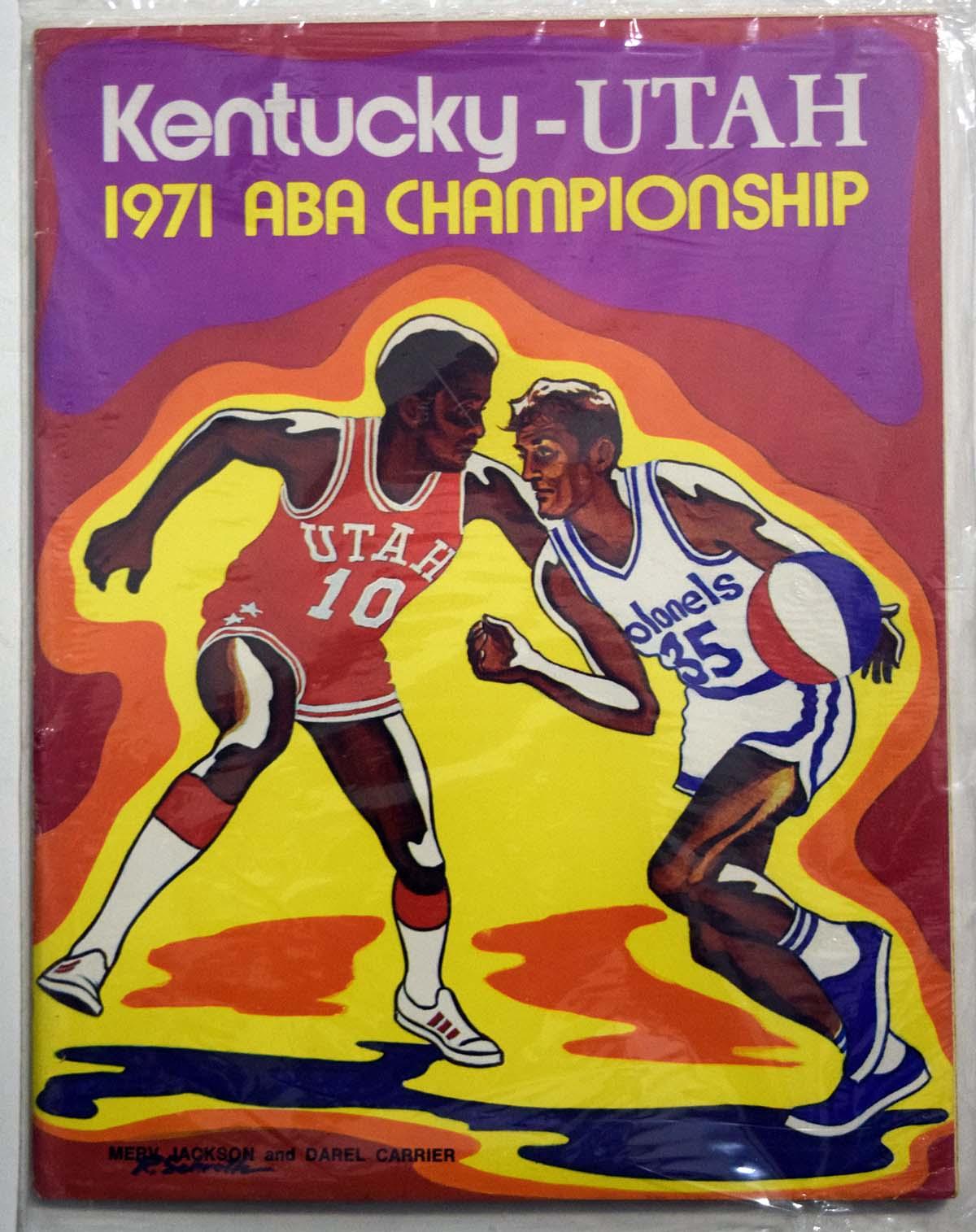 Lot #991 1971 Program  Kentucky - Utah ABA Championship Cond: Ex-Mt
