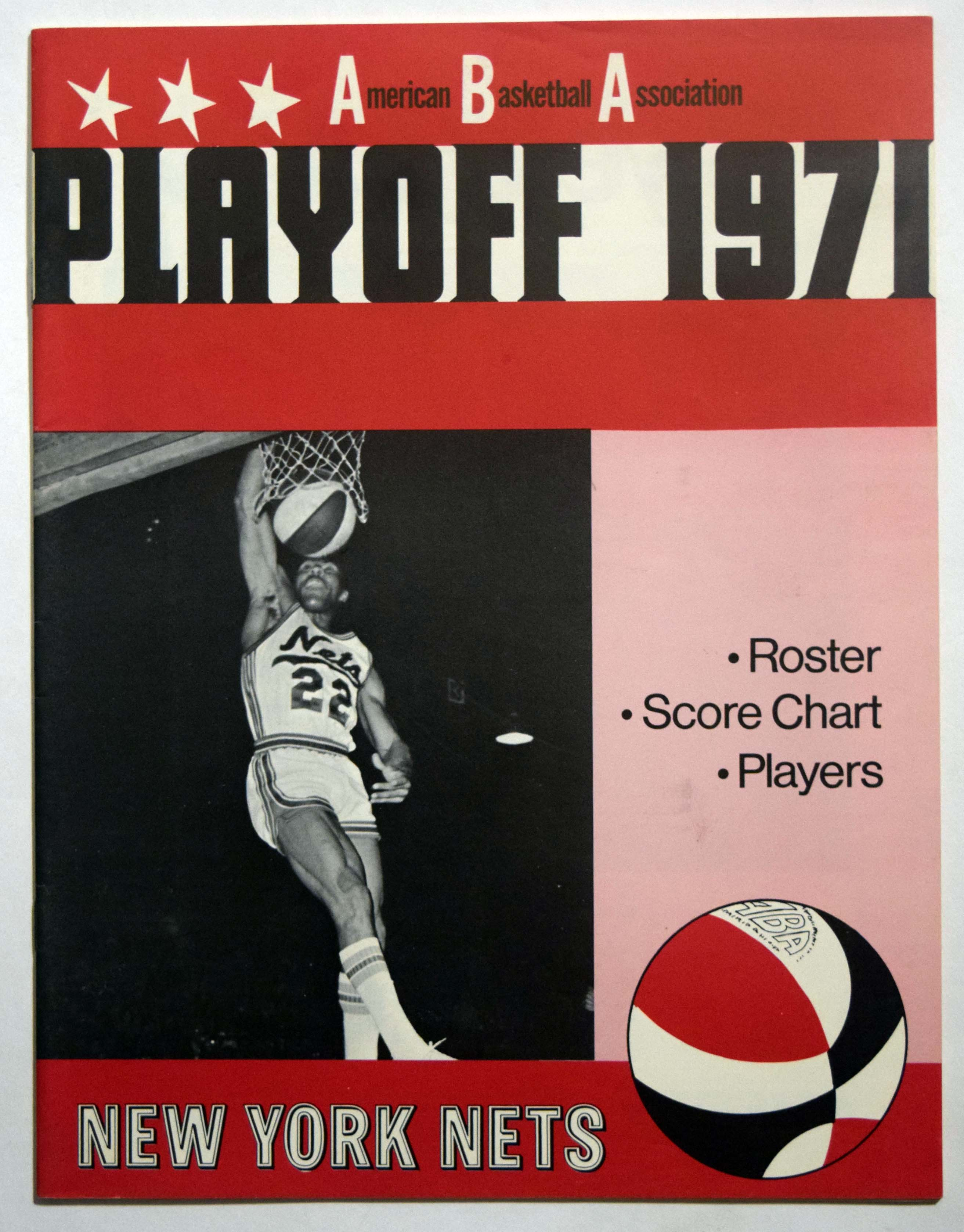 Lot #983 1971 Program  NY Nets Playoffs Cond: NM