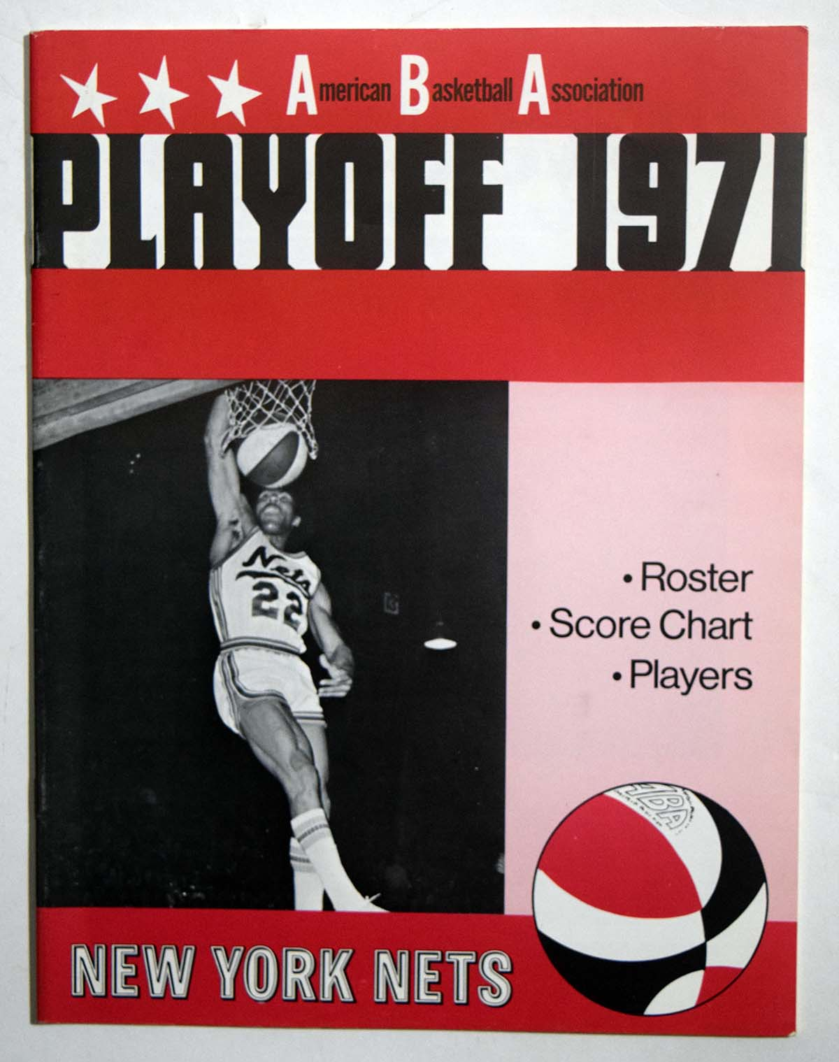 Lot #990 1971 Program  NY Nets Playoffs Cond: NM