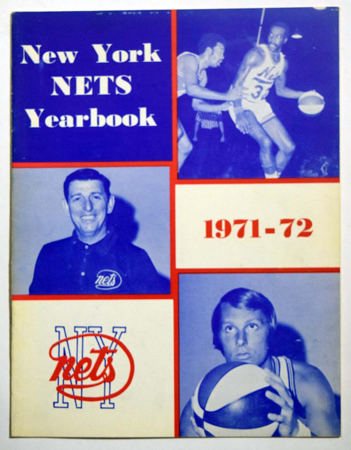 Lot #982 1971 Program  NY Nets Yearbook Cond: Ex-Mt