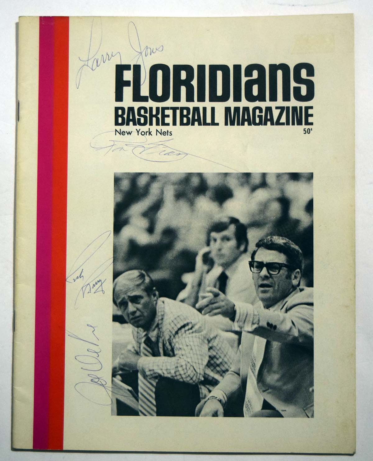 Lot #843 1971 Program  Floridians - NY Nets Cond: 8.5