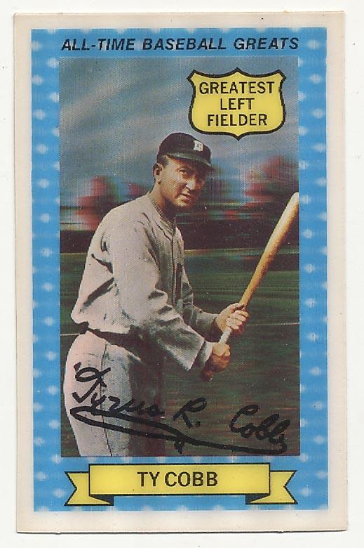 Lot #601 1972 Kelloggs ATG # 15 Cobb Cond: NM