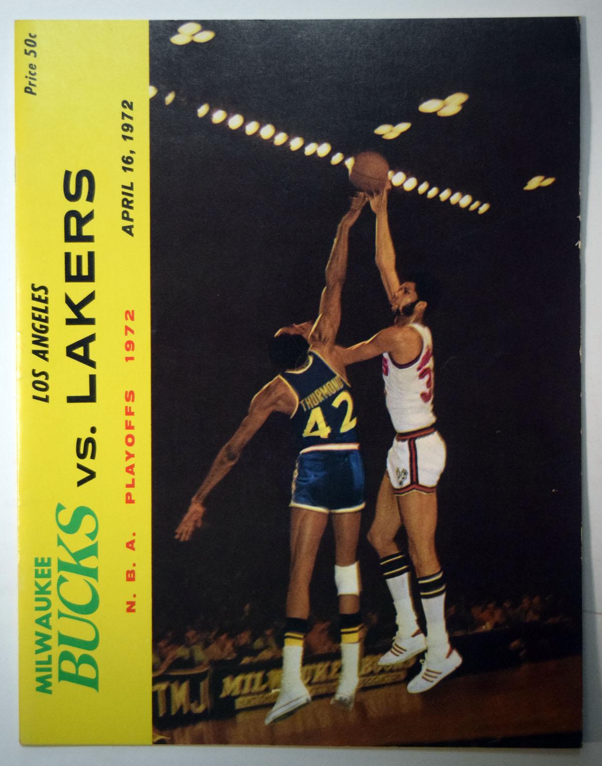 Lot #881 1972 Program  Lakers/Bucks Playoff Program Cond: Ex-Mt/NM