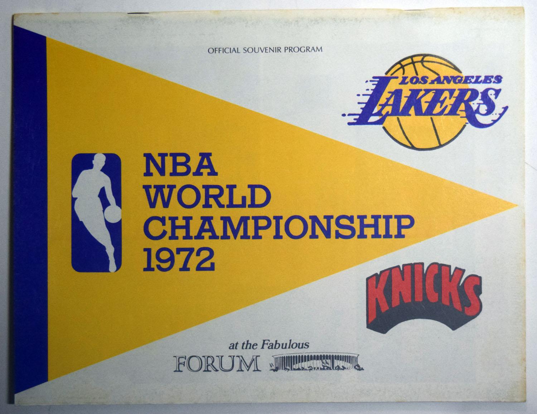 Lot #994 1972 Program  NBA Championship Program At LA Cond: NM
