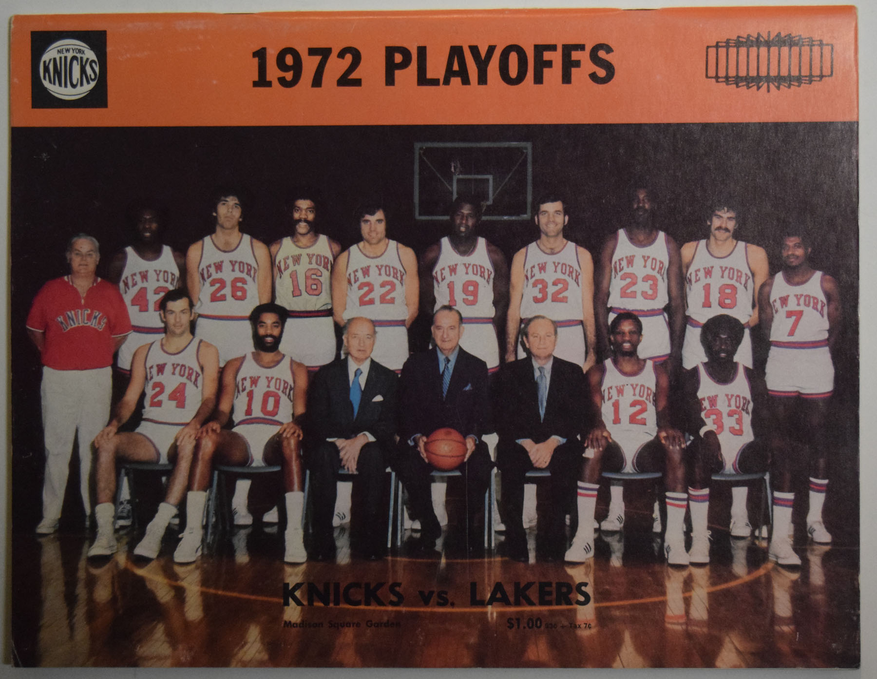 Lot #882 1972 Program  NBA Championship Program At New York Cond: Ex-Mt
