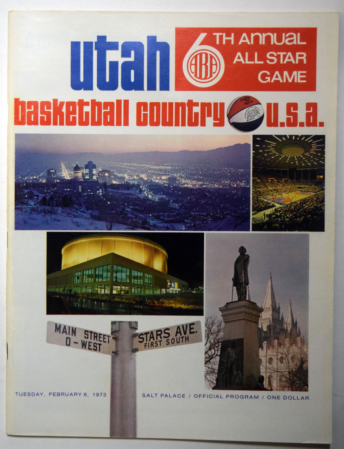 Lot #987 1973 Program  ABA All Star Game Cond: Ex-Mt
