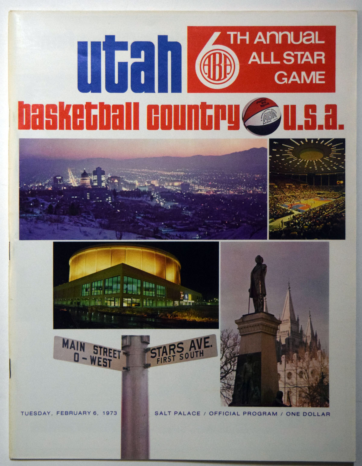 Lot #884 1973 Program  ABA All Star Game Cond: NM