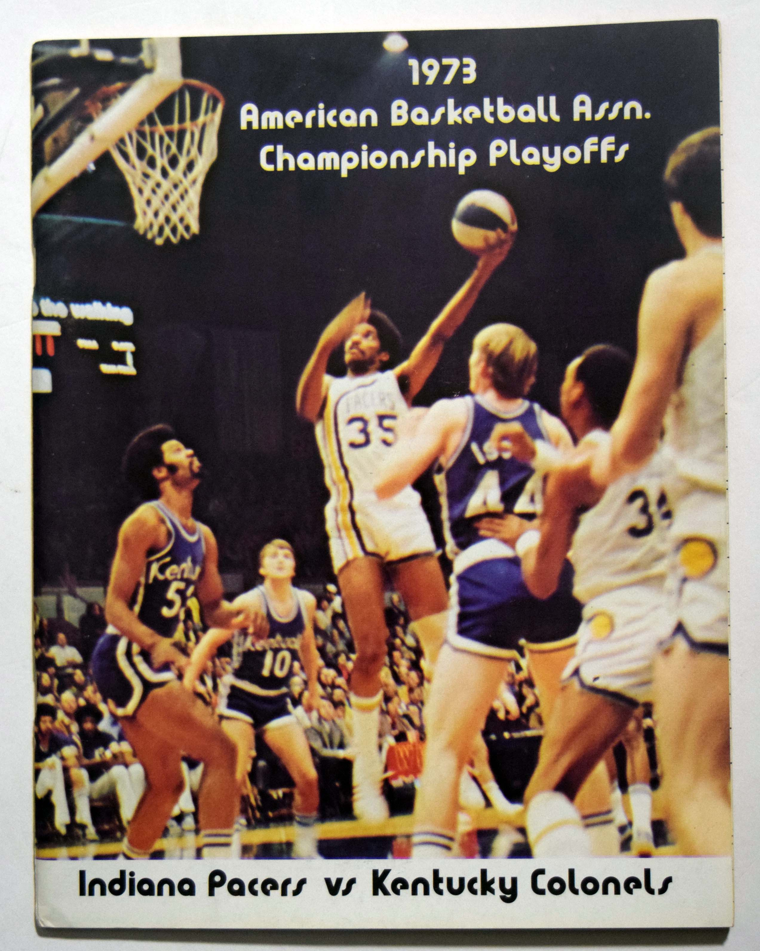 Lot #887 1973 Program  Kentucky - Indiana ABA Championship Cond: Ex-Mt/NM
