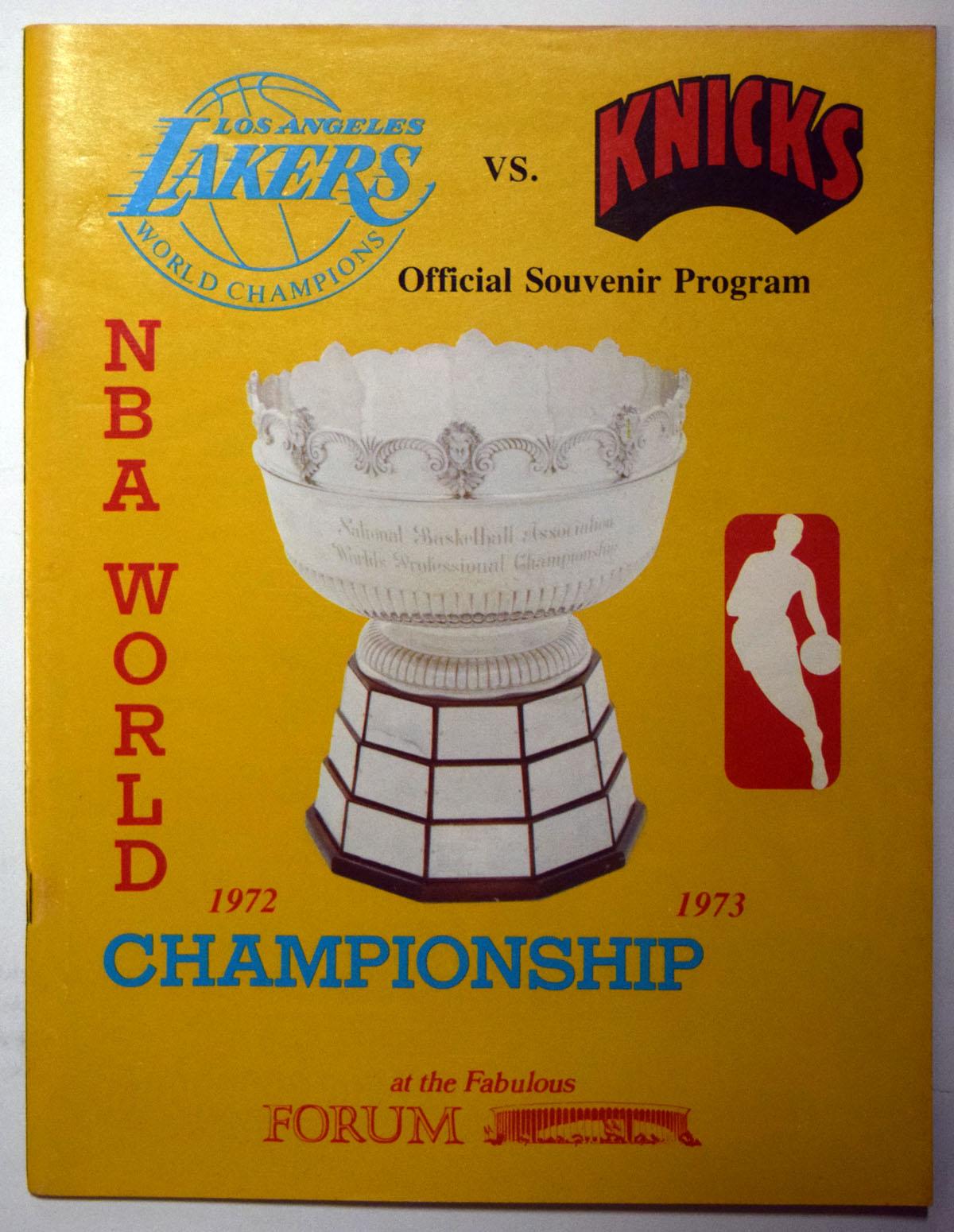 Lot #995 1973 Program  NBA Championship Program (last Knick title) Cond: Ex-Mt