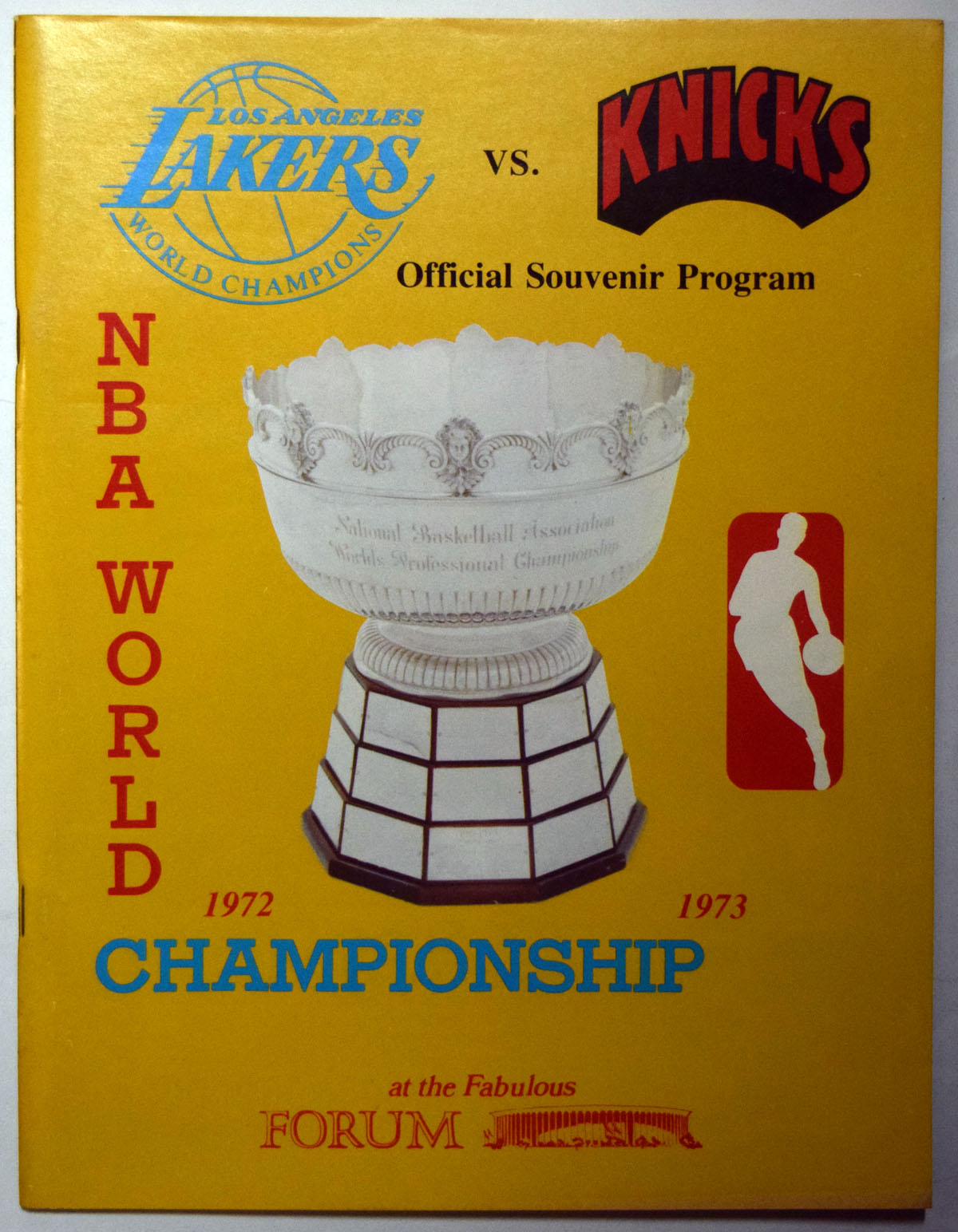 Lot #888 1973 Program  NBA Championship Program (last Knick title) Cond: NM