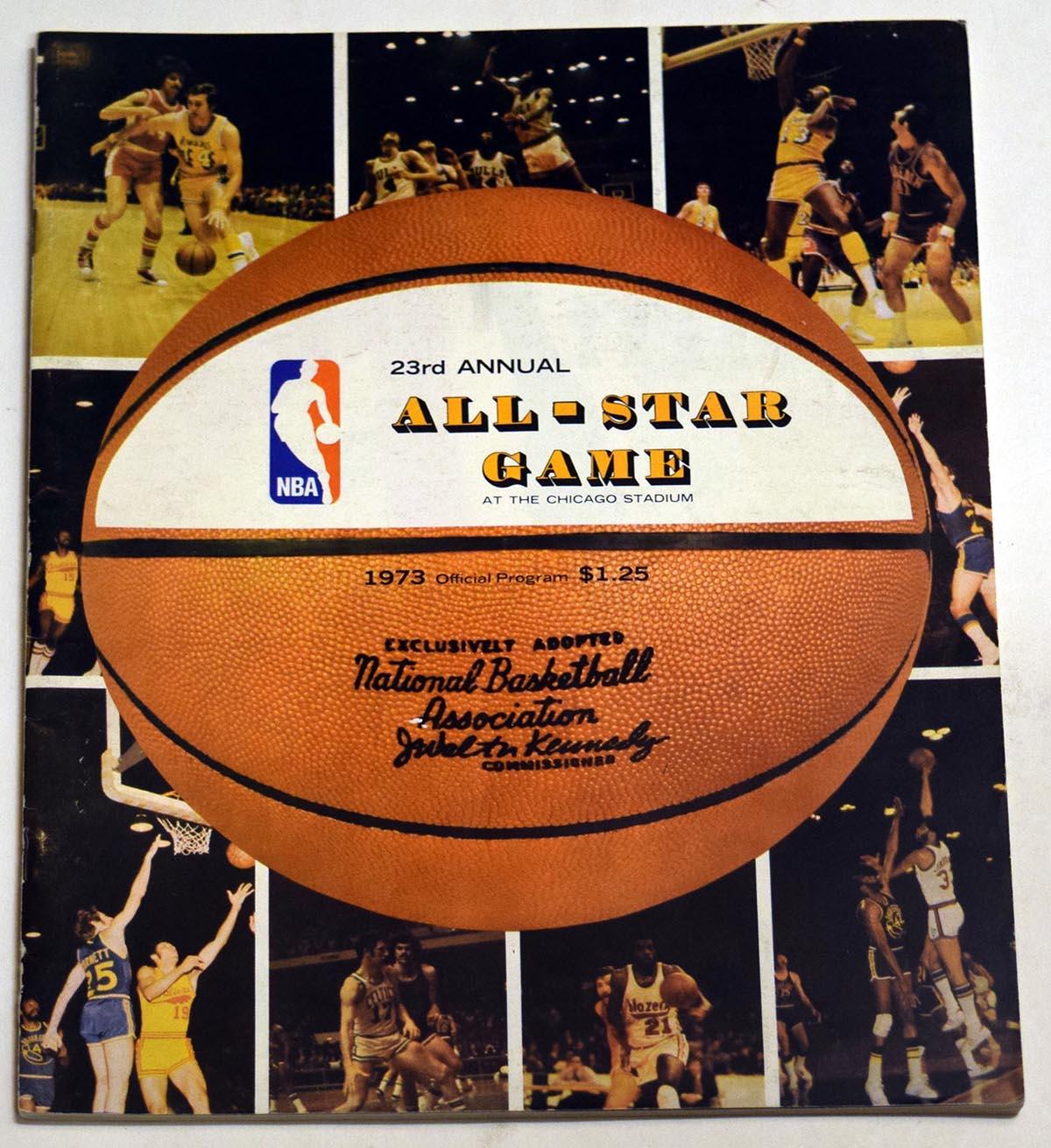Lot #985 1973 Program  NBA All Star Game Program Cond: Ex-Mt/NM