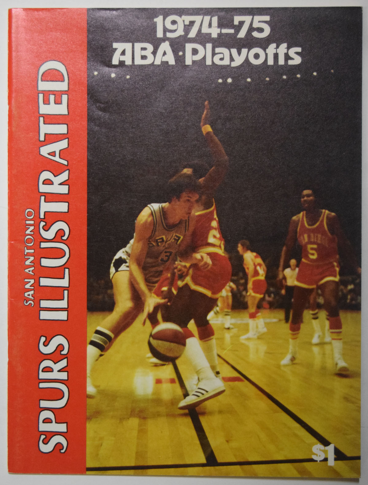 Lot #990 1974 Program  Spurs/Pacers ABA Playoff Program Cond: Ex-Mt