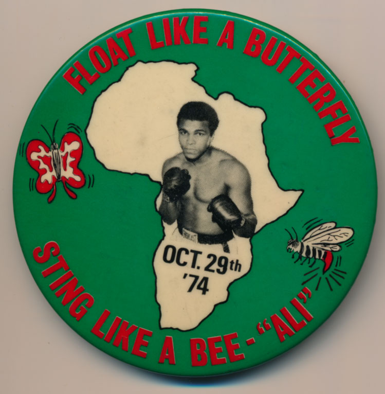 Lot #950 1974   Muhammed Ali 3 Inch Pin (10/29/74) Cond: NM