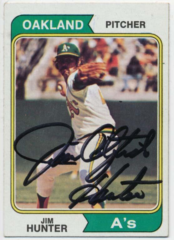 Lot #64 1974 Topps # 7 Hunter Cond: 9.5