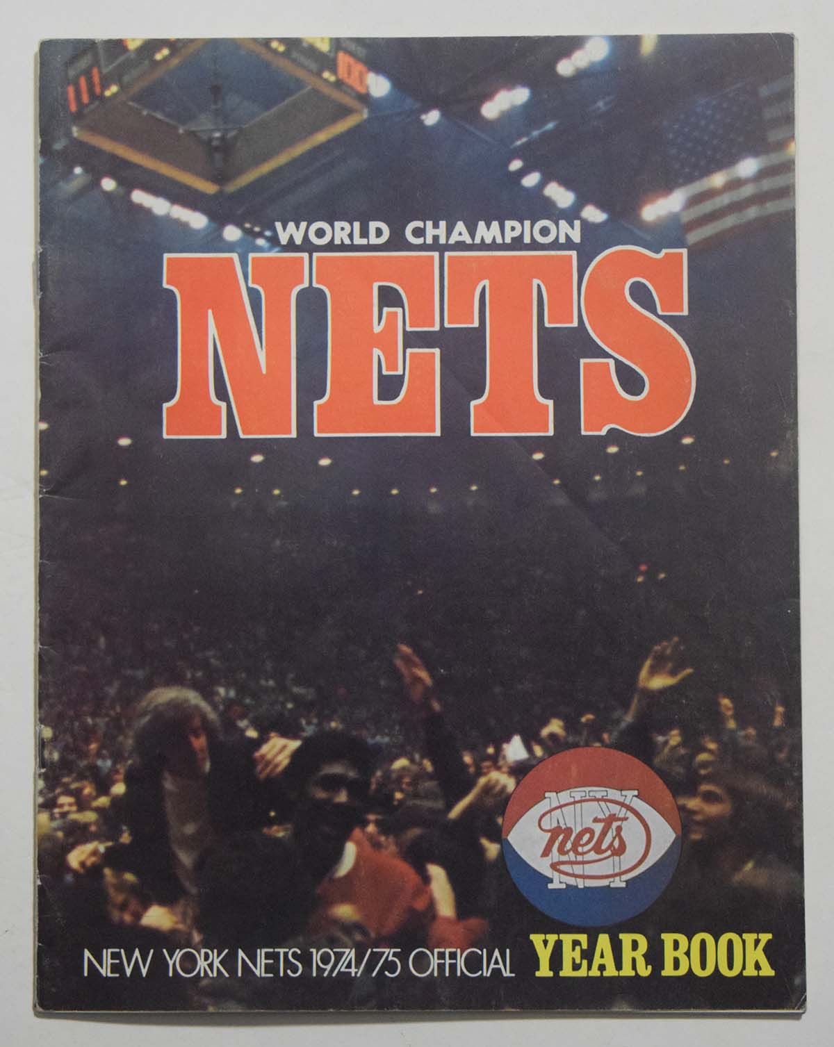 Lot #889 1974 Program  NY Nets Yearbook Cond: Ex