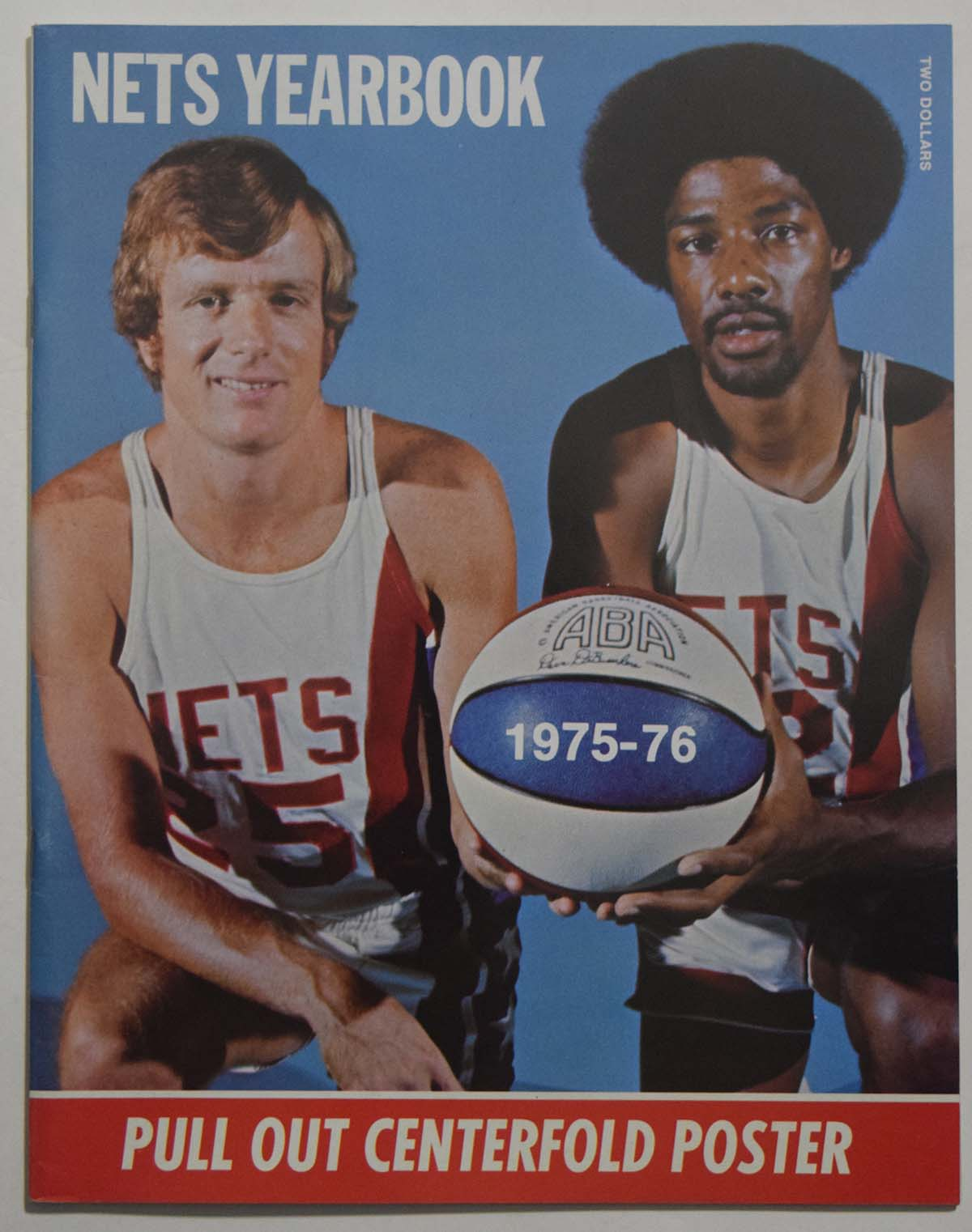 Lot #991 1975 Program  NY Nets Yearbook Cond: NM