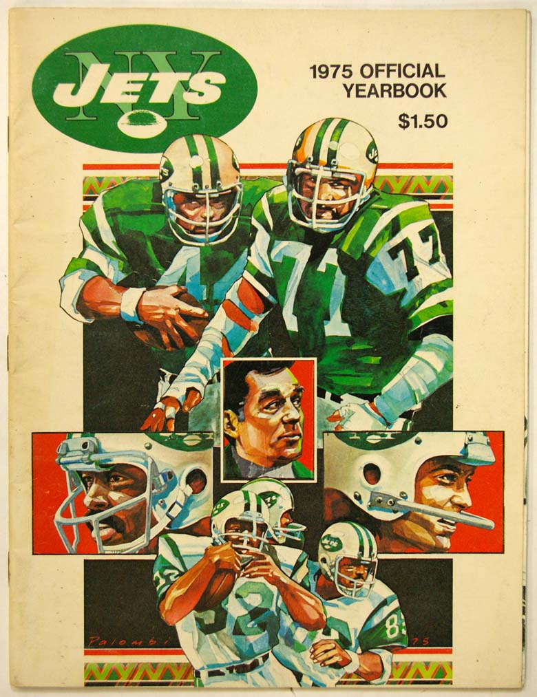 1975 Yearbook  New York Jets Ex-Mt